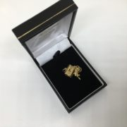 Preowned 9 carat yellow gold carriage charm/ pendant