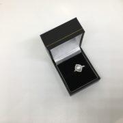 Sterling silver freshwater pearl and CZ ring