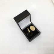 9 carat yellow gold oval swivel cufflinks