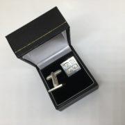 Preowned Sterling silver hallmarked swivel cufflinks