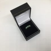 9 carat yellow gold emerald and diamond ring
