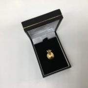 Preowned 9 carat yellow gold apple charm/ pendant