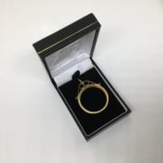 Preowned 9 carat yellow gold coin mount pendant