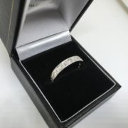 Preowned 18 carat white gold full diamond band/ eternity ring