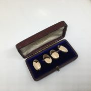 Preowned 9 carat rose gold oval cufflinks