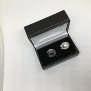 Sterling silver freshwater pearl and CZ earrings