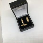 9 carat yellow gold swivel cufflinks