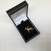 Preowned 9 carat yellow gold dog charm/ pendant