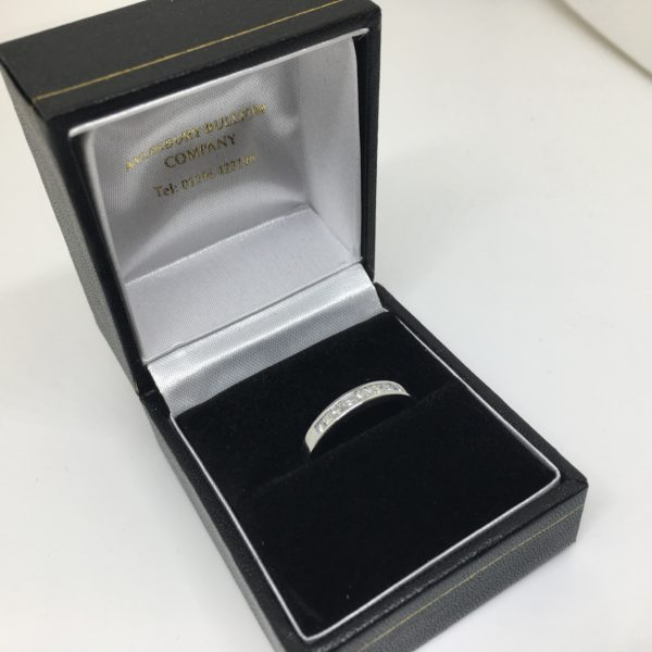 Preowned 18 carat white gold diamond band/ eternity ring