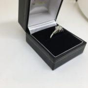 Preowned platinum diamond ring