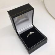 Preowned Palladium single stone diamond ring