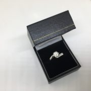 Preowned 18 carat white gold single stone diamond ring