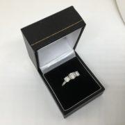 Preowned 18 carat white gold diamond 3 stone ring