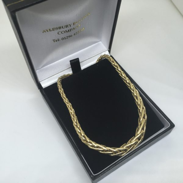 Preowned 18 carat yellow gold spiga chain