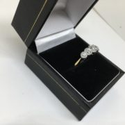Preowned 18 carat yellow gold and platinum diamond ring