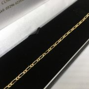 Preowned 9 carat yellow gold bracelet