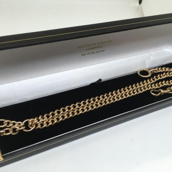 Preowned 15 carat yellow gold Albert chain