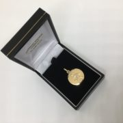 Preowned 9 carat yellow gold St Christopher pendant/ charm