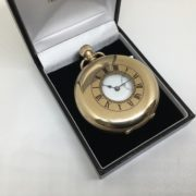 Preowned 9 carat yellow gold 1/2 hunter pocket watch