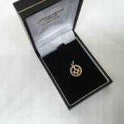 Preowned 9 carat yellow gold Masonic charm/ pendant