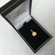 9 carat yellow gold St Christopher pendant/ charm