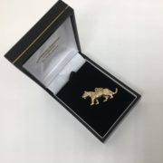 Preowned 9 carat yellow gold tiger charm/ pendant