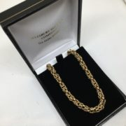Preowned 9 carat yellow gold rounded byzantina chain