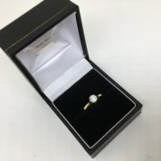 Preowned 18 carat yellow gold diamond single stone ring