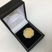Preowned 9 carat yellow gold 1/10 Krugerand coin and mount