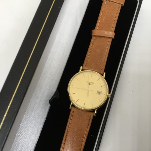 Preowned 18 carat yellow gold Longines wrist watch