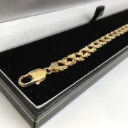 Preowned 9 carat yellow gold double curb bracelet