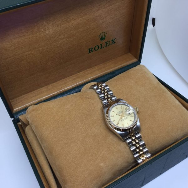 Bi-metal Rolex datejust