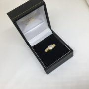Preowned 18 carat yellow gold diamond ring