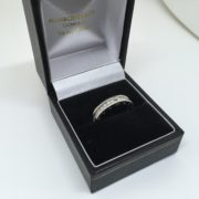 Preowned 18 carat white gold diamond set Bvlgari ring