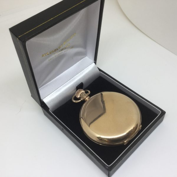Preowned 9 carat yellow gold Waltham pocket watch