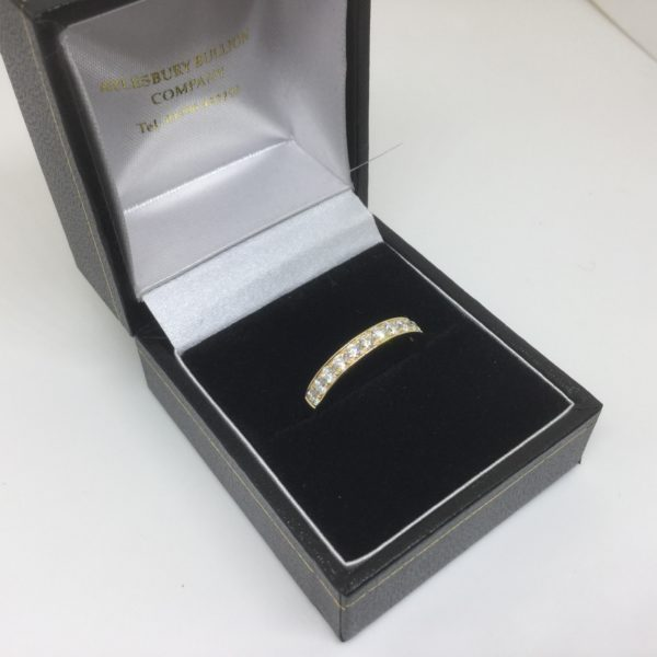 18 carat yellow gold diamond band/ eternity ring