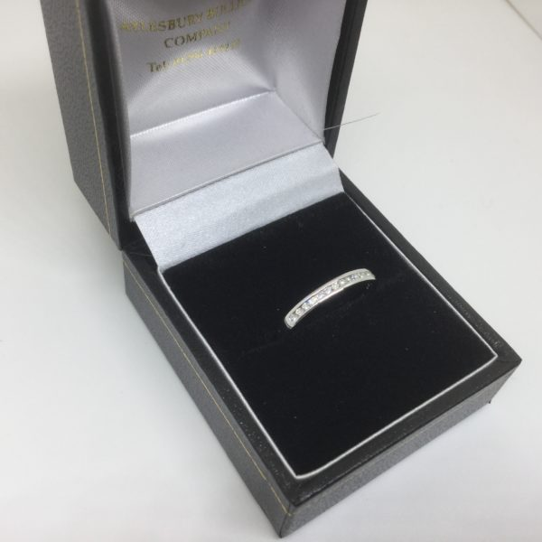 Platinum and diamond band/ eternity ring