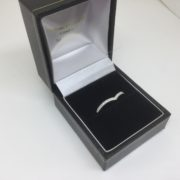 18 carat white gold diamond wishbone ring