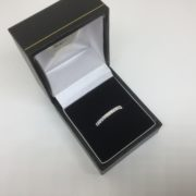 18 carat white gold diamond band/ eternity ring