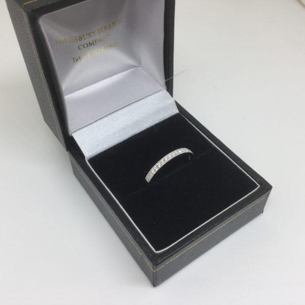 Platinum and diamond band/ eternity ring