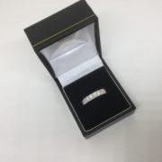 18 carat white gold diamond band/ eternity ring