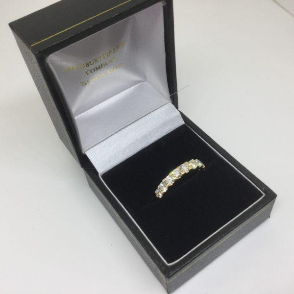 18 carat yellow gold diamond ring/ eternity ring