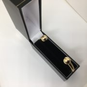 Preowned 9 carat yellow gold gents torque bangle