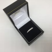 9 carat white gold diamond band/ eternity ring