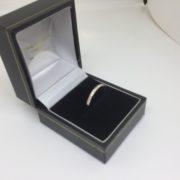 9 carat yellow gold diamond band/ eternity ring