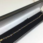 Preowned 9 carat yellow gold sapphire bracelet
