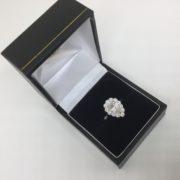 Platinum and diamond halo ring