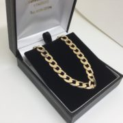 Preowned 9 carat yellow gold curb chain