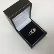 Preowned 9 carat yellow gold diamond ring