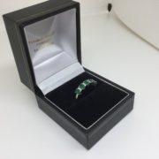 9 carat yellow gold emerald and diamond ring